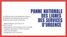 PANNE NATIONALE DES LIGNES DES SERVICES D'URGENCE-1
